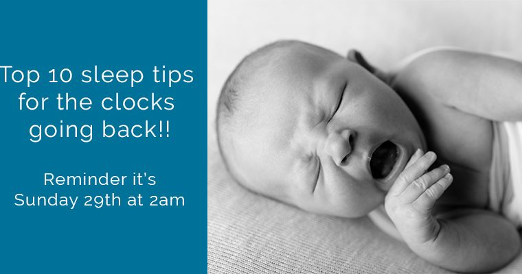 Top 10 sleep tips for the clocks going back!!